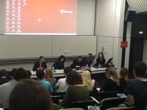 De gauche à droite: Luc Batigne, Myriam Benraad, Christophe Ayad, Basile Roze, Cynthia Zeitoun